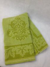 VTG 70s Towel Avocado Green Sculpted MCM Cutter Material Fabric Upcycle Martex