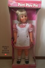 """❤️ Vintage 1981 Ideal Blonde PATTI PLAYPAL Doll 35"""" NRFB Excellent Condition"""