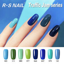 RS Nail Gel Nail Polish UV LED Varnish Soak Off Blue Green Gel Colour 15ml