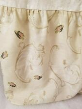 Ashley Size Queen Bed Skirt Dust Ruffle Beige Brown Pink Green Floral Design