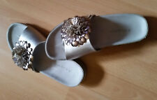 Bugatti Schuhe Pantolette Sandale Gr. 38 in Silber