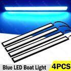 4 X Marine Grade Large Super Bright 12 Volt Blue Led Courtesy Lights