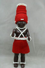 """Vntg Collector's Doll Ethnic South Africa PML Hard Plastic 7 1/4"""" Tall"""