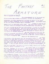 The Fantasy Armature #1 - 1951 science fiction newsletter - Francis T. Laney