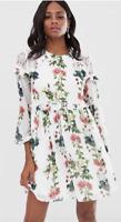 BNWT Ted Baker Maryam Layered Floral Ruffle Dress 3 UK 12 RRP £189