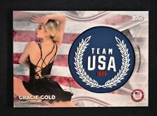 2018 Topps US Winter Olympics Team USA Memorabilia Wreath GG Gracie Gold /50