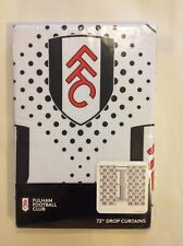 """Fulham FC FFC Official Product 72"""" Drop Curtains Logo Badge - 70/30 Polycotton"""