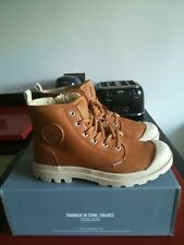 Mens Palladium Pampa Hi Zip Leather. Brown UK 9 EU 43. BNIB. RRP. £100