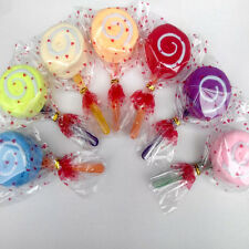 Lollipop Candy Towel Washcloth Wedding Favor Baby Shower Gift Dessert Wrap KY