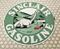 VINTAGE SINCLAIR GASOLINE PORCELAIN GAS OIL SERVICE STATION AUTO PUMP SIGN