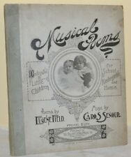 1896 Eugene Field MUSICAL POEMS for School and Home Piper Jaffery Provenance