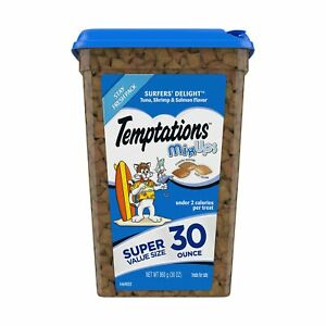Temptations MixUps Crunchy and Soft Cat Treats, 30 oz. Tuna, Shrimp, Salmon