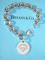 Tiffany & Co Return to Tiffany Sterling Silver Round Circle Tag Bracelet