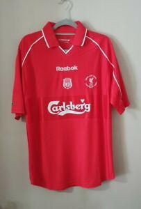 Liverpool 2001 UEFA Cup Final Retro Football Shirt Large