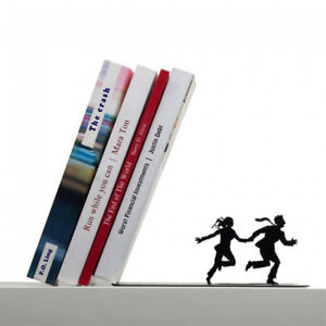 Runaway Bookend Black Metal Book Stopper Holder Artori Design New Genuine