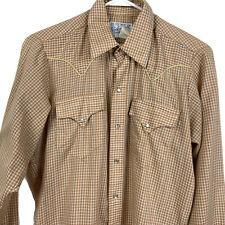 Mens Vintage Rockmount Ranch Wear Shirt Western Pearl Snap Rockabilly 15 M