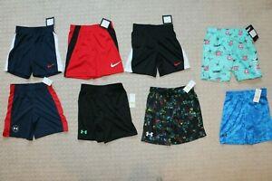 Boys 4 & 4T Nike & Under Armour & Hurley  shorts & Swim shorts New Lot of 8