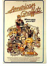 Cult Classic American Graffiti Movie Poster Art Advertising Modern Postcard