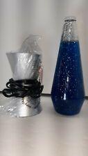 """14.5"""" BLUE GLITTER LAVA Glitter Motion Table Lamp"""