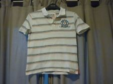 BOYS JENSON BUTTON T-SHIRT FROM MARKS AND SPENCER - AGE 7-8 YEARS