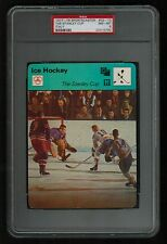 PSA 8 THE STANLEY CUP with EDDIE GIACOMIN Sportscaster Hockey Card #02-13 ITALY