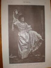 Printed photo singer Minnie Palmer UK 1893