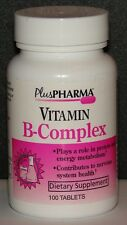 PlusPharma Vitamin B-Complex Tablets 100ct