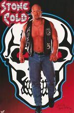 WWF POSTER~Stone Cold Steve Austin Skull Original Badass 3:16 WWE 1998 Full Size