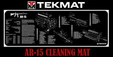 AR-15 TekMat 12 X 36 Inch Long Gun Cleaning Bench Mat with AR15 Parts List Black