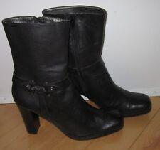 Nine West Wms Black Leather Fashion Boots Welkin 8 *Sharp Must C*