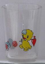 Verre à moutarde glass  DIVERS. BD POUSSIN.  (8,5 cm).  VM1043