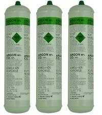 DISPOSABLE ARGON/CO2 GAS BOTTLES FOR MIG WELDING x 3 cylinders