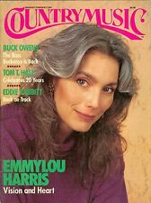 Emmylou Harris cover Country Music magazine January February 1989 no label