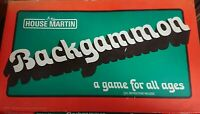 Vintage House Martin Backgammon Board Game