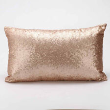 Rectangle Sequins Sofa Bed Home Decoration Festival Pillow Case Cushion Cover