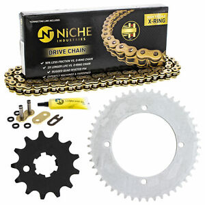 Sprocket Chain Set for Kawasaki KX65 13/47 Tooth 420 X-Ring Front Rear Combo Kit