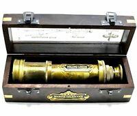 Nautical Telescope Vintage Brass Folding Spyglass Marine Telescope with Box
