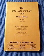 Keuffel & Esser (K & E) Log Log Duplex Trig Slide Rule 4080 Manual (1939 date)