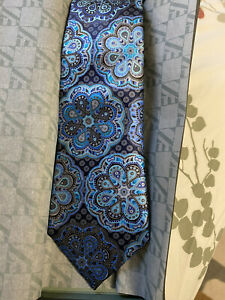 ERMENEGILDO ZEGNA Limited Edition QUINDICI black MEDALLION silk Tie NWT Auth