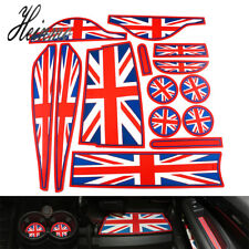 Union Jack Coasters For MINI Cooper Countryman R60 Cup Holders Side Door Mats
