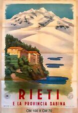 Rieti e la provincia Sabina manifesto pubblicitario ENIT 1947/1951