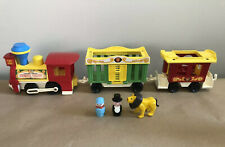 Fisher Price ~ Little People Circus Train #991 ~ Vintage 1973 ~ Lion & People