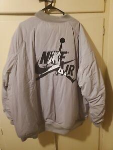 Nike Air Jordan Ma-1 Wings Men's Bomber Jacket Grey AV2598-059 size 3xl
