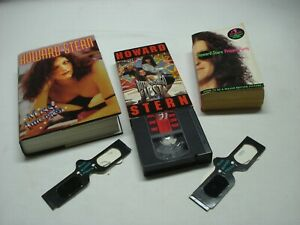 HOWARD STERN MISS AMERICA 1ST ED HC BOOK, PLUS PRIVATE PARTS, BUTT BONGO VHS
