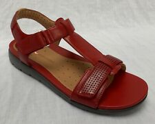 021440c3c9c BNIB Clarks Unstructured Ladies Un Haywood Red Leather Flat Sandals