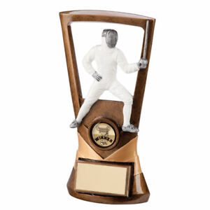 Velocity Fencing Plaque 185mm Trophy - FREE ENGRAVING
