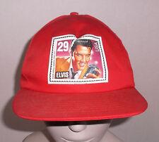 ELVIS PRESLEY USPS STAMP HAT 1992 Adjustable Red Gold Medal Skinny Elvis China