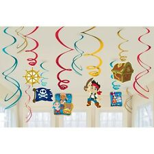 Party Supplies Birthday Jake & The Neverland Pirates Hanging Swirls Pack of 12