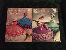2 Annie's Attic crochet fashion doll outfit booklets