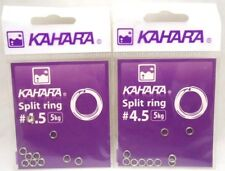 2packs Kahara Fishing Split Ring 5kg Size #4.5 Lure Area Trout Bass Fishing